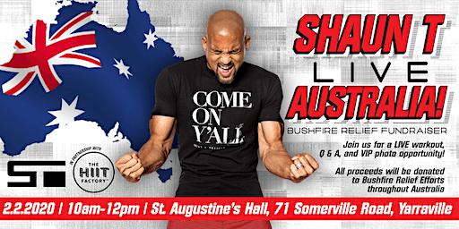 Shaun T LIVE - Australia Bushfire Fundraiser
