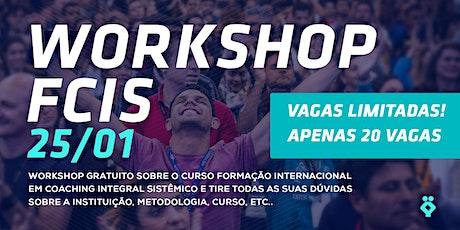 [Palmas-TO] WORKSHOP FCIS 25/01 ingressos