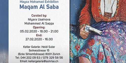 Vernissage of Maysa, Dubai Artist at Keller Gallery Zurich