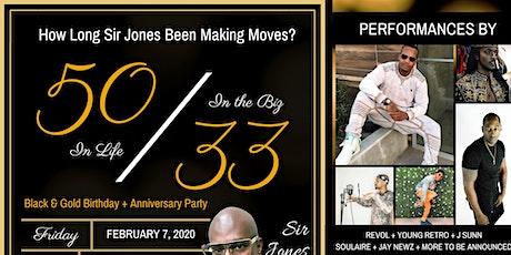 Sir Jones' 50/33 Party tickets