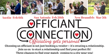 Officiant Connection- New Braunfels, Austin and San Antonio tickets