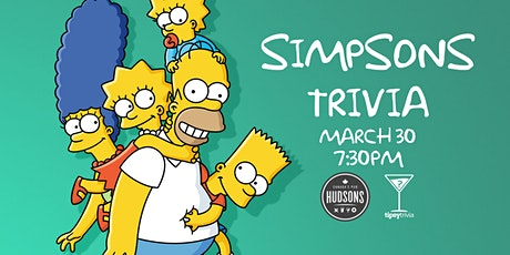 Simpsons Trivia - March 30, 7:30pm - Hudsons Shawnessy tickets