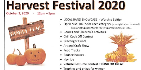 ANNUAL HARVEST FESTIVAL 2020 tickets