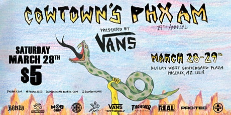 Cowtown's 19th Annual PHXAM - Qualifiers @ Desert West Skateboard Plaza tickets