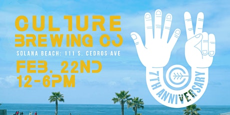 CULTURE BREWING CO 7-YEAR ANNIVERSARY tickets