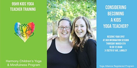 Info Session for 95 Hour Kids Yoga Teacher Training  tickets