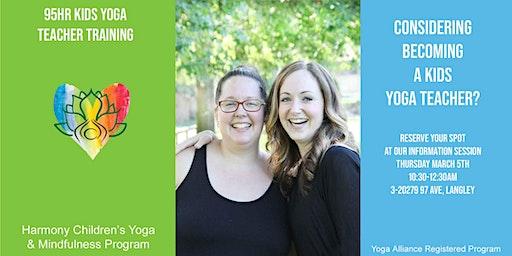 Info Session for 95 Hour Kids Yoga Teacher Training