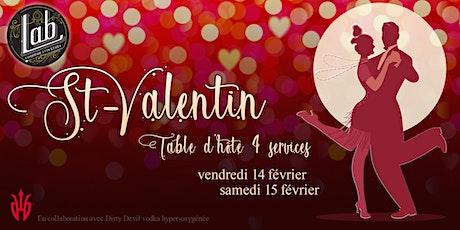 La St-Valentin souper romantique au Lab tickets