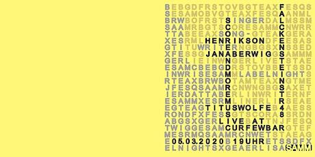 SAMM Labelabend mit Henrikson, Jana Berwig, Titus Wolfe Tickets