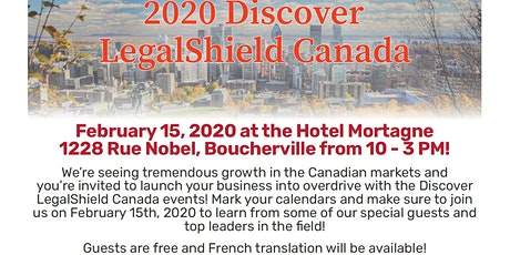 Quebec - Discover LegalShield Canada February 15th tickets