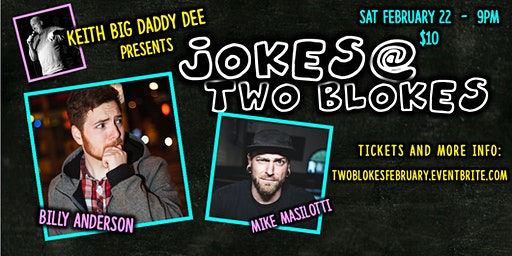 Jokes at Two Blokes with Billy Anderson