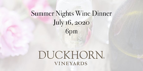 Summer Nights Wine Dinner tickets