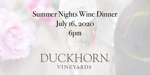 Summer Nights Wine Dinner