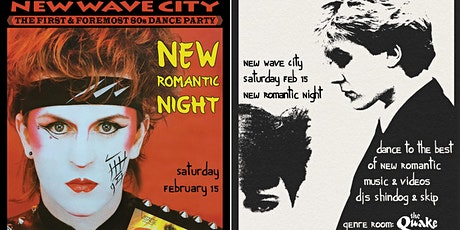2 for 1 admission to New Romantic night 1/15 tickets