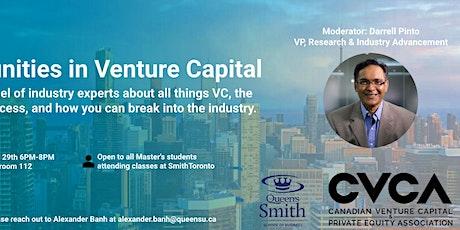 Opportunities in Venture Capital tickets