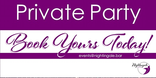 Private Event: Book Yours Today!