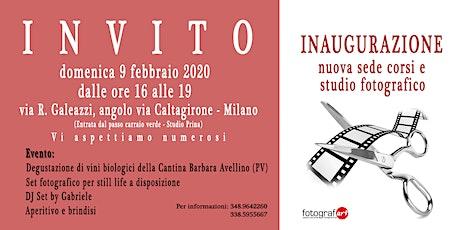 Inaugurazione nuova sede corsi e studio di fotografia biglietti