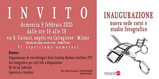 Inaugurazione nuova sede corsi e studio di fotografia