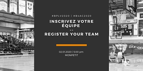 Inscription de l'équipe | Team registration tickets