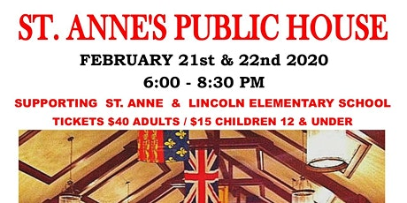 St Anne's Public House 2020 tickets