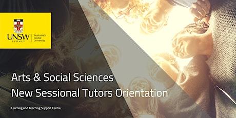 Arts & Social Sciences New Sessional Tutors Orientation T1 2020 tickets