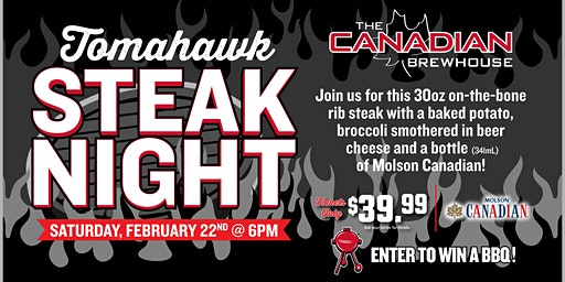 Tomahawk Steak Night (Edmonton Lewis Estates)