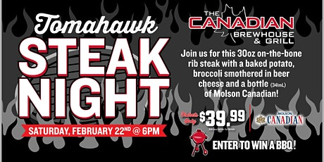 Tomahawk Steak Night (Kelowna) tickets