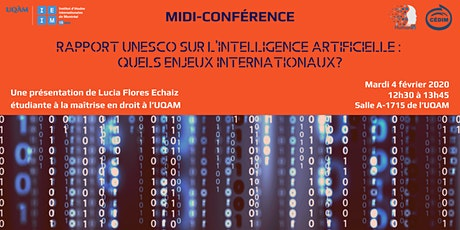 Rapport UNESCO sur l'Intelligence Artificielle: quels enjeux internationaux billets