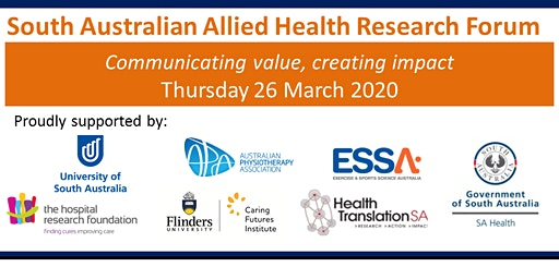 South Australian Allied Health Research Forum 2020