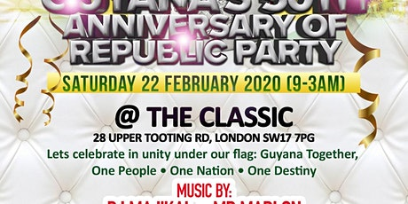 Guyana's 50th Anniversary of Republic Party tickets