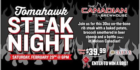 Tomahawk Steak Night (Calgary Harvest Hills) tickets