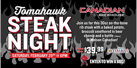 Tomahawk Steak Night (Okotoks) tickets