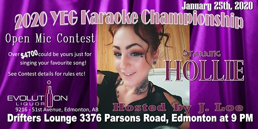 YEG Karaoke Night Hosted By J. Loe, Starring Hollie