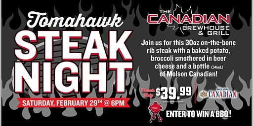 Tomahawk Steak Night (Prince George)