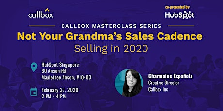 Callbox Masterclass: Not Your Grandma's Sales Cadence - Selling in 2020 tickets