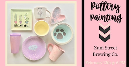 Pottery Painting at Zuni Street Brewing Co. tickets