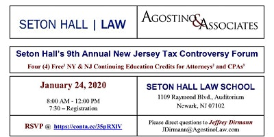 Seton Halls 2020 New Jersey Tax Controversy Updat