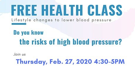 Free Health Class on High Blood Pressure tickets