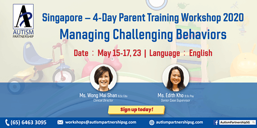 Parent Training Workshop – Managing Challenging Behaviors
