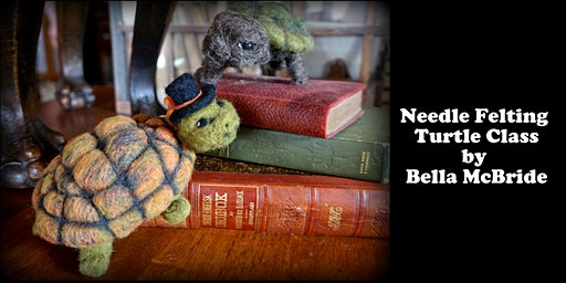 Needle Felting Turtle Class