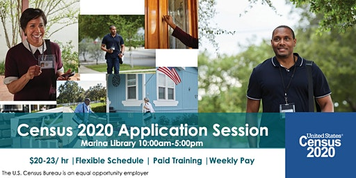 2020 Census Application Event in Marina