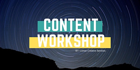 Content Workshop tickets
