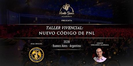 TALLER VIVENCIAL NUEVO CÓDIGO DE PNL entradas