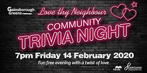 Love thy Neighbour - Community Trivia Night Pimpama