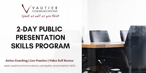 San Francisco Public Speaking Training Workshop - November 17-18, 2020