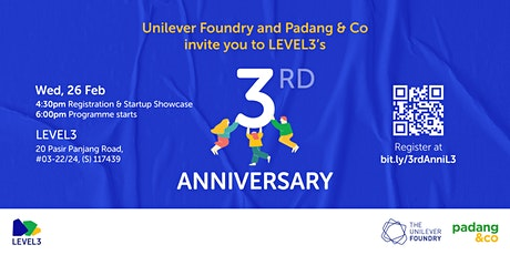 CANCELLED - LEVEL3 3rd Anniversary tickets