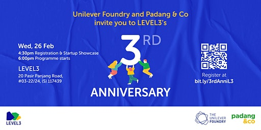CANCELLED - LEVEL3 3rd Anniversary