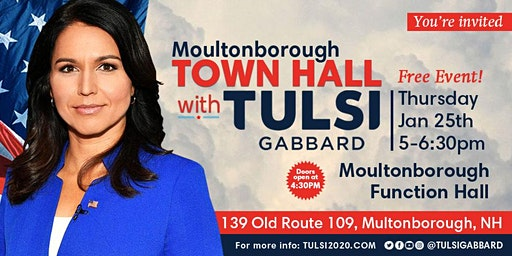 Moultonborough Town Hall with Tulsi Gabbard