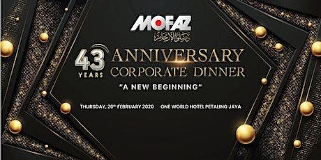 MOFAZ 43rd ANNIVESARY DINNER CELEBRATION tickets