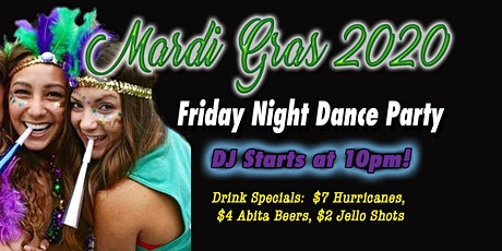 FRIDAY NIGHT MARDI GRAS PARTY AT THE BIG EASY - Downtown Raleigh tickets